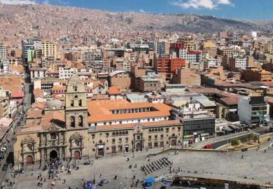 la paz e il carcere san pedro bolivia